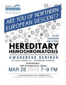 Hemochromatosis Awareness Seminar Poster